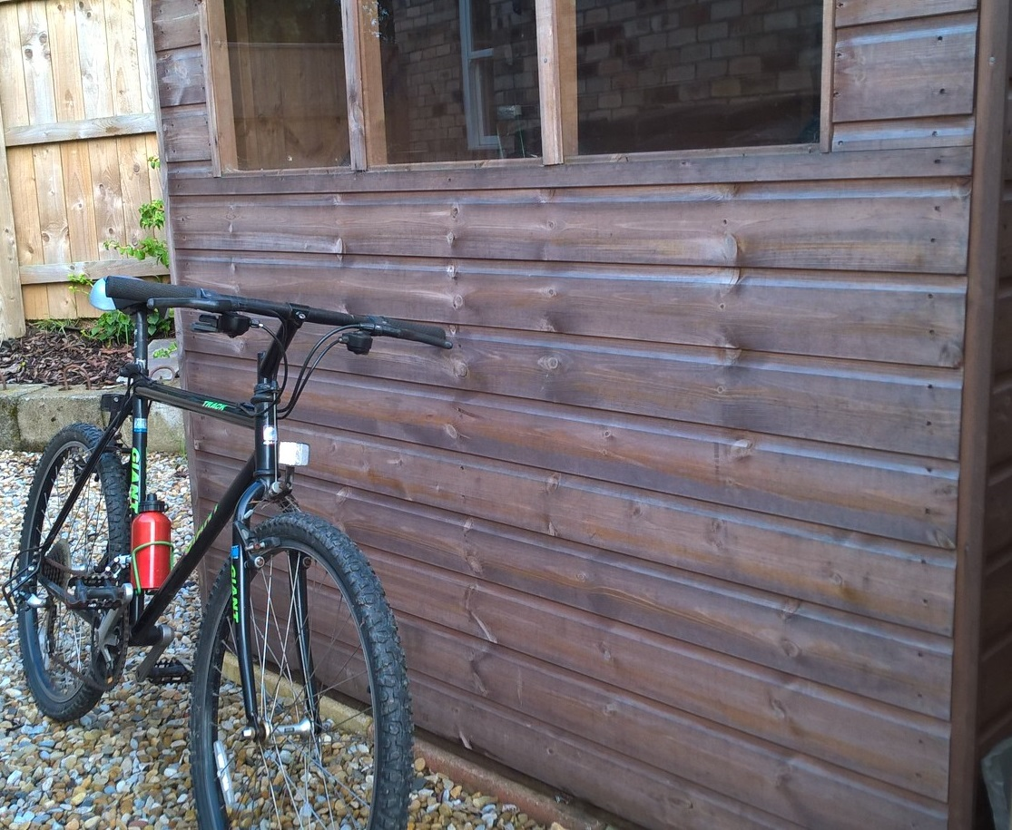 Secure shed for storage and bikes